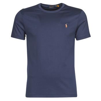 textil Herr T-shirts Polo Ralph Lauren T-SHIRT AJUSTE COL ROND EN PIMA COTON LOGO PONY PLAYER MULTICOLO Blå