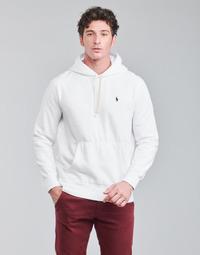 textil Herr Sweatshirts Polo Ralph Lauren SWEAT A CAPUCHE MOLTONE EN COTON LOGO PONY PLAYER Vit