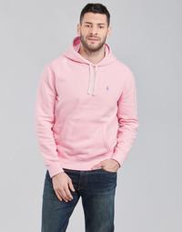 textil Herr Sweatshirts Polo Ralph Lauren SWEAT A CAPUCHE MOLTONE EN COTON LOGO PONY PLAYER Rosa
