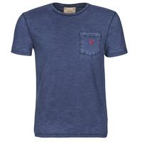 textil Herr T-shirts Polo Ralph Lauren T-SHIRT AJUSTE COL ROND EN COTON LOGO PONY PLAYER Blå