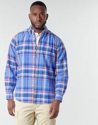 textil Herr Långärmade skjortor Polo Ralph Lauren CHEMISE AJUSTEE EN OXFORD COL BOUTONNE  LOGO PONY PLAYER MULTICO Flerfärgad
