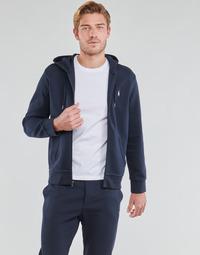 textil Herr Sweatshirts Polo Ralph Lauren SWEATSHIRT A CAPUCHE ZIPPE EN JOGGING DOUBLE KNIT TECH LOGO PONY Marin