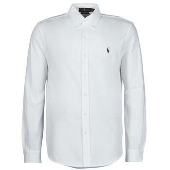 textil Herr Långärmade skjortor Polo Ralph Lauren COPOLO Vit