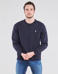 textil Herr Sweatshirts Polo Ralph Lauren SWEATSHIRT COL ROND EN JOGGING DOUBLE KNIT TECH LOGO PONY PLAYER Blå / Marin