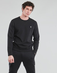 textil Herr Sweatshirts Polo Ralph Lauren SWEATSHIRT COL ROND EN JOGGING DOUBLE KNIT TECH LOGO PONY PLAYER Svart