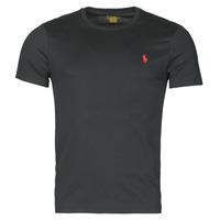 textil Herr T-shirts Polo Ralph Lauren T-SHIRT AJUSTE COL ROND EN COTON LOGO PONY PLAYER Svart