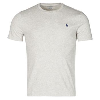 textil Herr T-shirts Polo Ralph Lauren T-SHIRT AJUSTE COL ROND EN COTON LOGO PONY PLAYER Grå