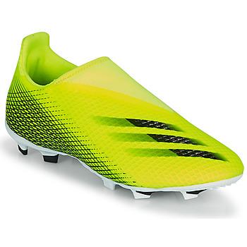 Skor Barn Fotbollsskor adidas Performance X GHOSTED.3 LL FG J Gul / Svart