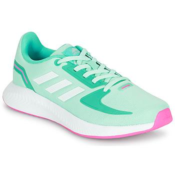 Skor Flickor Sneakers adidas Performance RUNFALCON 2.0 K Turkos / Rosa