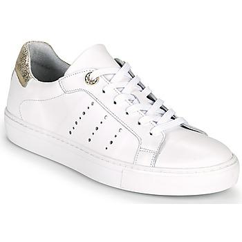 Skor Dam Sneakers Myma PEGGUI Vit / Guldfärgad