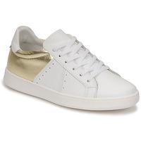 Skor Dam Sneakers Myma PIGGE Vit / Guldfärgad