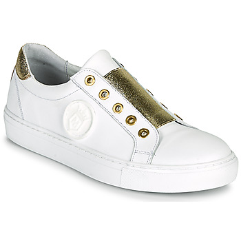 Skor Dam Sneakers Myma PAGGI Vit / Guldfärgad