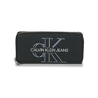 Väskor Dam Plånböcker Calvin Klein Jeans ZIP AROUND GLOW Svart
