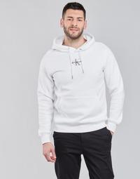 textil Herr Sweatshirts Calvin Klein Jeans NEW ICONIC ESSENTIAL HOODIE Vit