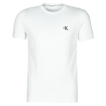 textil Herr T-shirts Calvin Klein Jeans YAF Vit