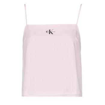 textil Dam Blusar Calvin Klein Jeans MONOGRAM CAMI TOP Rosa