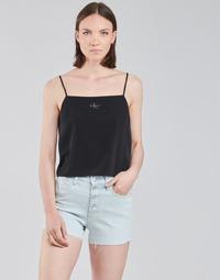 textil Dam Blusar Calvin Klein Jeans MONOGRAM CAMI TOP Svart