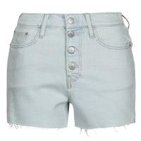 textil Dam Shorts / Bermudas Calvin Klein Jeans HIGH RISE SHORT Blå / Ljus