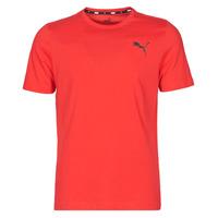 textil Herr T-shirts Puma ESS TEE Röd