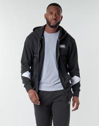 textil Herr Sweatshirts Puma REBEL FZ HOOD Svart