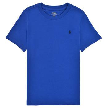 textil Pojkar T-shirts Polo Ralph Lauren ELIVA Blå / Saphir