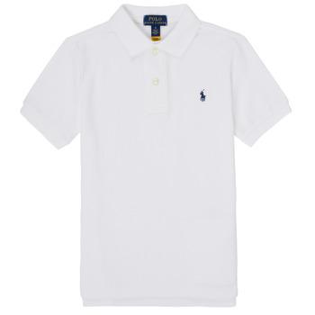 textil Pojkar Kortärmade pikétröjor Polo Ralph Lauren FRANCHI Blå