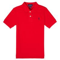 textil Pojkar Kortärmade pikétröjor Polo Ralph Lauren MENCHI Röd