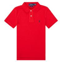 textil Pojkar Kortärmade pikétröjor Polo Ralph Lauren FRANCHI Röd
