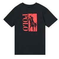 textil Pojkar T-shirts Polo Ralph Lauren CROPI Svart