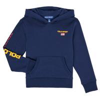 textil Pojkar Sweatshirts Polo Ralph Lauren AMELIA Marin