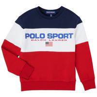 textil Pojkar Sweatshirts Polo Ralph Lauren TRINITA Flerfärgad
