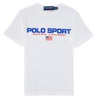 textil Pojkar T-shirts Polo Ralph Lauren DRONI Vit