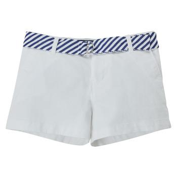 textil Flickor Shorts / Bermudas Polo Ralph Lauren FILLI Vit