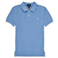 textil Pojkar Kortärmade pikétröjor Polo Ralph Lauren BLEUNI Blå