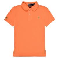textil Pojkar Kortärmade pikétröjor Polo Ralph Lauren POLLIE Orange