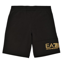 textil Pojkar Shorts / Bermudas Emporio Armani EA7 3KBS53-BJ05Z-1200 Svart / Guldfärgad