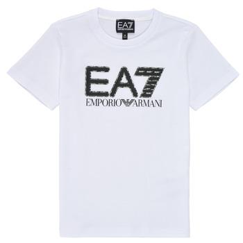 textil Pojkar T-shirts Emporio Armani EA7 3KBT53-BJ02Z-1100 Vit