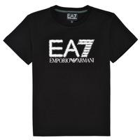 textil Pojkar T-shirts Emporio Armani EA7 3KBT53-BJ02Z-1200 Svart
