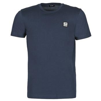 textil Herr T-shirts Diesel A00356-0AAXJ-81E Marin