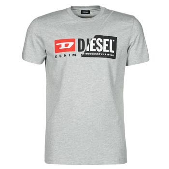 textil Herr T-shirts Diesel 00SDP1-0091A-912 Grå