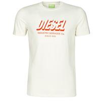 textil Herr T-shirts Diesel A01849-0GRAM-129 Vit