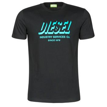 textil Herr T-shirts Diesel A01849-0GRAM-9XX Svart