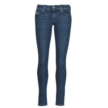 textil Dam Skinny Jeans Diesel SLANDY-LOW Blå