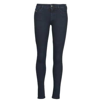 textil Dam Skinny Jeans Diesel SLANDY Blå / Mörk