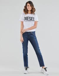 textil Dam Raka byxor Diesel D-JOY Blå