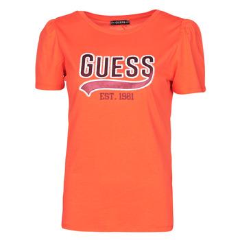 textil Dam T-shirts Guess SS CN MARISOL TEE Röd