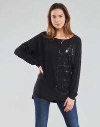 textil Dam Långärmade T-shirts Guess LS KAROLINA TEE Svart