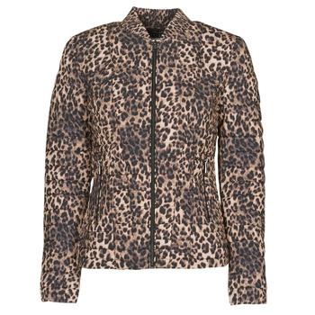 textil Dam Täckjackor Guess VERA JACKET Leopard