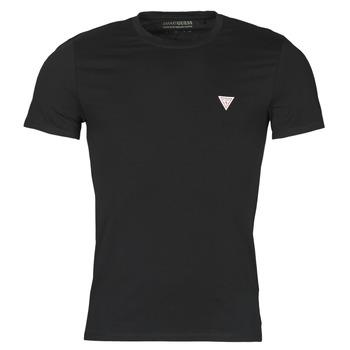 textil Herr T-shirts Guess CN SS CORE TEE Svart
