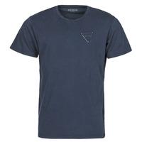 textil Herr T-shirts Guess LOGO ORGANIC BASIC CN SS TEE Marin